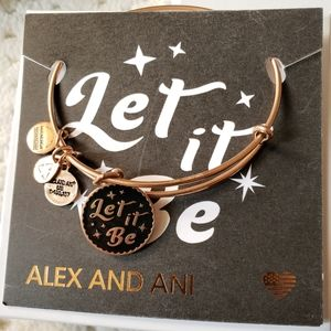 Alex and Ani LET IT BE Beatles charm bangle